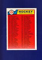 Checklist 133-264 (Unmarked) 1983-84 O-PEE-CHEE OPC Hockey #256 (NM)