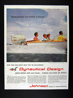 1959 Johnson Sea-Horse V-50 Outboard Motor Seafarer boat photo vintage print Ad