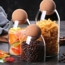 Borosilicate Glass Sealed Can Storage Tank Food Spice Grains Container with Cork
