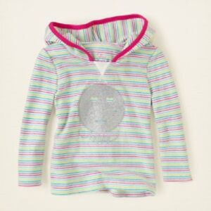 The Children's Place Long Sleeve Smiley Face Hoodie Shirt ~ Size 4T ~ NWT