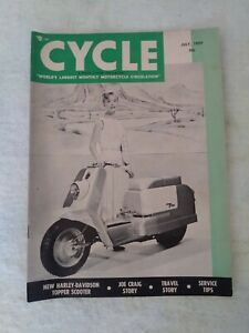 VINTAGE CYCLE MAGAZINE MOTORCYCLE JULY 1959 HARLEY DAVIDSON JOE CRAIG STORY