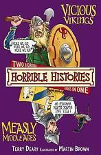 Vicious Vikings AND Measly Middle Ages (Horrible Histories), Terry Deary, New Bo