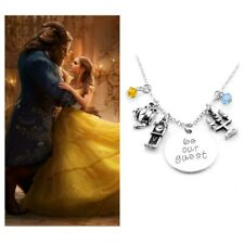 Beauty And The Beast Necklace, Be Our Guest Charm Necklace
