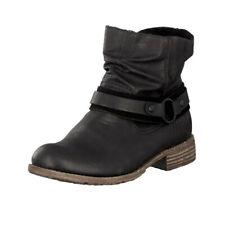 Rieker 74762 Women's Ankle Strap Boot Black US Size 7 Open Box