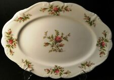 "Johann Haviland Bavaria Moss Rose Oval Serving Platter 13"" Excellent"