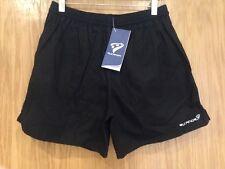 "Rucanor Sports Men's Black Rugby Shorts Size 3 28"" Waist. BNWT"