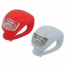 2 LED Silicone Mounted Bicycle Cycle Bike Front And Rear Lights Flash Night
