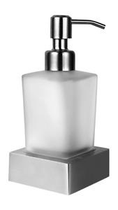 Ambrosya   Seifenspender Seifenhalter Bad WC Küche Freistehend Glas Edelstahl