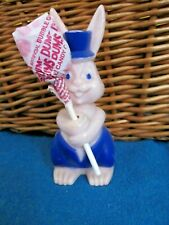 Vintage Rosbro Rosen Hard Plastic Easter Bunny Rabbit Candy Lollipop Holder