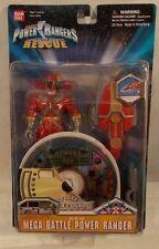 "Power Rangers Lightspeed Rescue 5"" Mega Battle Red Ranger Interactive CD (MOC)"