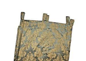 "Croscill Discontinued 84"" Luxury Window Panel Jade Green & Gold Curtain Tab Top"