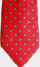 "Andhurst Men's Silk Tie 57.5"" X 3.5"" Red w/ multi-color Geometric"