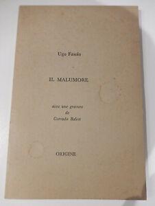 Ugo Fasolo - Il Malumore (Origine 1971) Numerato! Incisione di Corrado Balest