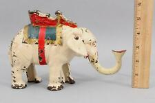 c1930s Antique HUBLEY Painted Cast Iron ELEPHANT HOWDAH Mechanical Bank, NR