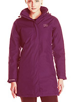 Helly Hansen Aden Long Insulated Rain Jacket Coat Women Purple Size XS *REF91