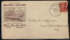 UNITED STATES 1908 USED MULFORD & MULFORD ADVERTISING COVER