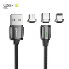 WSKEN Mini Ⅲ Magnetic Micro Lightning Type-C Charge Cable For iPhone 11 Android