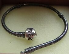 New Authentic Pandora Oxidized Sterling Silver bracelet size 7.9in/20cm