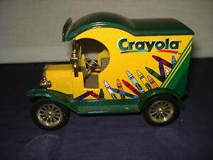 1998 GEARBOX TOY CRAYOLA 1912 FORD DELIVERY CAR COIN BANK #1 IN A SERIES EUC