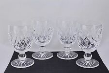 "SET OF 4 WATERFORD CRYSTAL DONEGAL 5-1/4"" WATER GOBLETS #2 - MINT"
