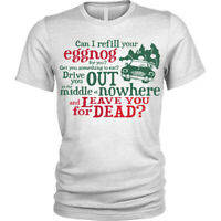 Christmas Vacation T-Shirt funny lampoon xmas eggnog Mens Tee