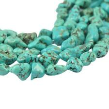 "Natural Turquoise 7X12MM 100% Real Gemstone Nugget Loose Beads Strand 15"" AAAA"