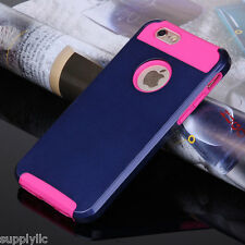 Hybrid Shockproof Hard&Soft Rugged Rubber Back Cover Case For Apple iPhone