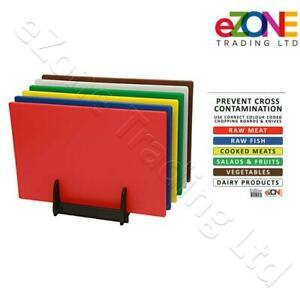 Commercial Kitchen Chopping Board Colour Coded Hygiene Catering Food Cutting Set