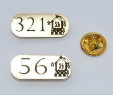 5x ORANGE ORDER SOLID BRASS GOLD LAPEL BADGE TIE PIN PERSONALISED OWN LOL NO.