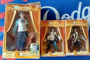 Lot of (3) N'SYNC Collectible Marionettes JUSTIN 10 in * Justin & JC 6.5 in USED