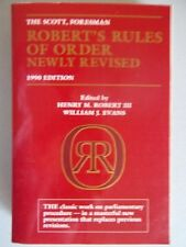 The Scott, Foresman Roberts Rules of Order newly