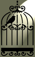 Shabby Chic Rustic Stencil Bird cage Birdcage Vintage style A4 297x210mm Wall
