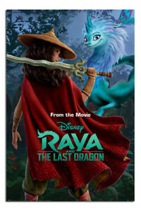 """LAMINATED Raya And The Last Dragon Warrior Poster Official Licensed 24x36"""""""