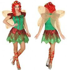 Costume GREEN Woman Fairy des Bois XS/S 36/38 Drawing Cartoon Tinker bell NEW