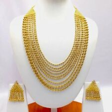 Indian Asian Bridal Jewellery Party Ethnic Wear Yellow Gold Plated Necklace Set