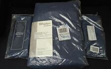 Draperies set lot navy blue jcpenny brand new