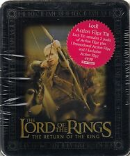 LORD RINGS RETURN OF THE KING 2003 COLLECTIBLE ACTION FLIPZ TIN UK LEGOLAS & BOW