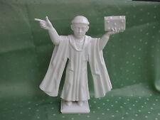 Schöne Hutschenreuther Figur als Mönch mit Buch