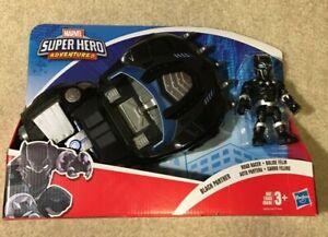 Black Panther Road Racer Marvel Superhero Adventures Toy Figure Vehicle Hasbro