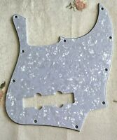 For 4 Ply USA/Mexican 4 String Fender Jazz Bass Guitar Pickguard,White Pearl