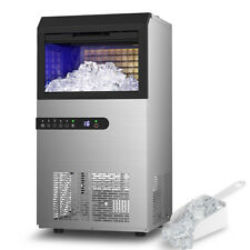Built In Commercial Ice Maker 100lbs Ice Stainless Steel Cube Machine Restaurant