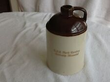 Vintage USS North Carolina Batleship Memorial Stoneware Jug  Crock Empty