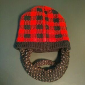 YOUTH Winter Hat With Detachable Beard Beanie Knit Hat Halloween Costume Sz 4-7
