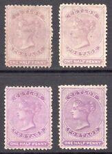 CEYLON 1863-66 QV ½d wmk Crown CC shades M, un., SG 48,b,c cat £280