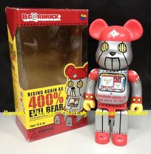 Medicom Be@rbrick 2003 DevilRobot Evil Bear Tofu 400% Bearbrick