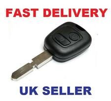 PEUGEOT 406  2 BUTTON REMOTE KEY FOB CASE & NEW BLADE