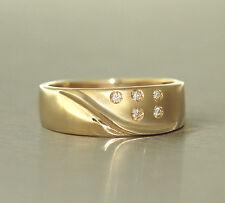 Brillantring - Goldring 585 mit 5 Brillanten - Ring Gold 14 kt Damenring
