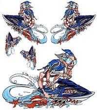 Decoracion 10m luz azul 50mm autoboot moto acuática Jetski modellbau azul decoración rayas