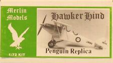 Merlin Models 1:72 Penguin Replica Hawker Hart Plastic Model Kit #9052U
