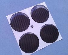 (3d-45c) 4x CARBON LOCK emblemi di CERCHI COPERCHIO 45mm in Silicone Adesivo